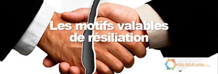 motifs résiliation mutuelle - banniere